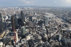 London city skyline view from above Stock Image