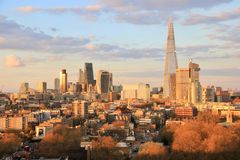 London City spring time sunset Royalty Free Stock Photo