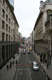 London city street. Elevated view of London city street scene Stock Photo