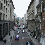 London city street scene. Elevated view of London city street scene Stock Photo