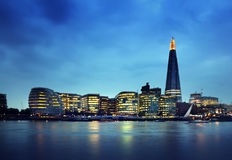 London city at sunset Royalty Free Stock Image