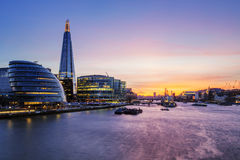 London city at sunset. Stock Image