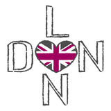 London City t shirt flag heart Stock Images