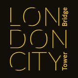 London City t-shirt Royalty Free Stock Images