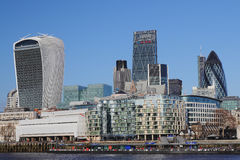London, 2015, City on Thames. Financial district Royalty Free Stock Photography