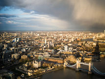 London city about to rain Royalty Free Stock Photos