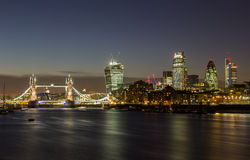 London City and Tower Bridge Stock Photography