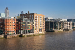 London city urban landscape view from Thames Royalty Free Stock Photo