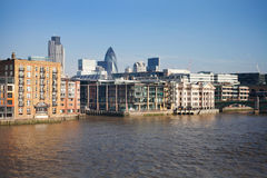 London city urban landscape view from Thames Stock Photography