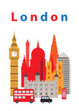 London City. A vector illustration of London city,  and some of its landmark architecture Stock Images
