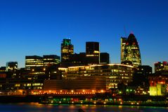 London city view at night Stock Photos