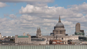 London City View From Tate Modern to St Pauls. Stock Photos