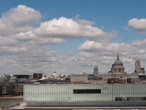 London City View From Tate Modern to St Pauls. Stock Image