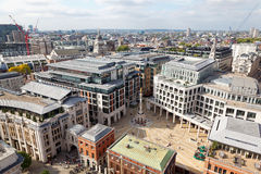 London city view from the top of St. Paul Cathedral royalty free stock photos
