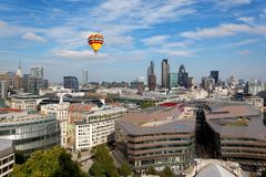 London city view from the top of St. Paul Cathedral Royalty Free Stock Image