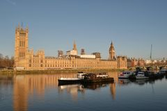 London City Westminster House Parliament Royalty Free Stock Photos