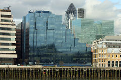 London Cityscape. View from south bank Royalty Free Stock Photos