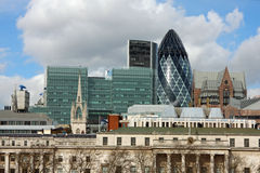 London Cityscape. View from south bank Stock Images