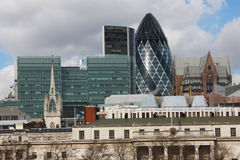 London Cityscape. View from south bank Stock Image