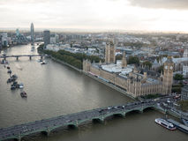 London cityscape aerial view Royalty Free Stock Photo