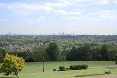 London cityscape from alexandra palace royalty free stock image