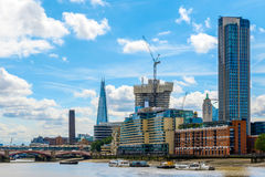 London Cityscape Along River Thames royalty free stock image