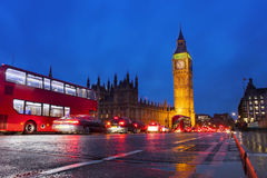 London cityscape at Big Ben, night scene photo Royalty Free Stock Photo