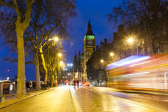 London cityscape at Big Ben, night scene photo Royalty Free Stock Image