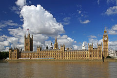 London. Cityscape with houses of parliament and big ben, london, england, united kingdom Royalty Free Stock Photography