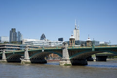 London cityscape with london bridge Royalty Free Stock Photos