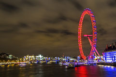London cityscape with london eye Royalty Free Stock Photo