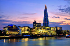 London Cityscape with New City Hall and The Shard Stock Photos