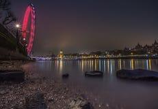 London cityscape at night Stock Image