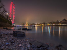London cityscape at night Stock Images