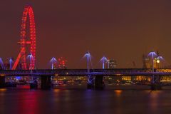 London Cityscape at Night Royalty Free Stock Photography