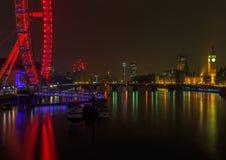 London Cityscape at Night Stock Photography