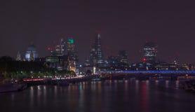 London Cityscape At Night Stock Photos