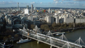 London cityscape på skymning - materielbild Royaltyfri Bild