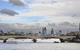 London cityscape and the river Thames Royalty Free Stock Photos