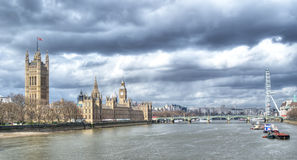 London Cityscape, seen from Tower Bridge Royalty Free Stock Images