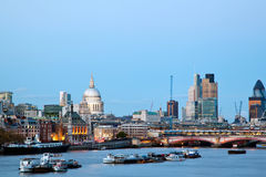 London Cityscape with St Paul's Cathedral Royalty Free Stock Photo