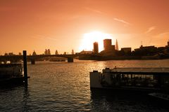 London, cityscape at the sunset, UK Stock Images