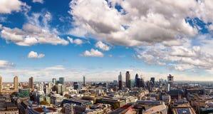 London cityscapepanorama i 2012 Royaltyfri Foto