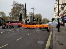 London Climate change protest. royalty free stock image