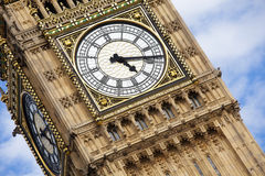 London clock tower detail Royalty Free Stock Photography