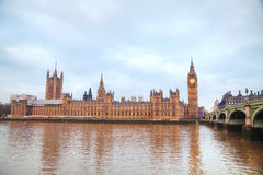 London with the Clock Tower and Houses of Parliament Royalty Free Stock Images
