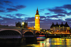London with the Clock Tower and Houses of Parliament Stock Images