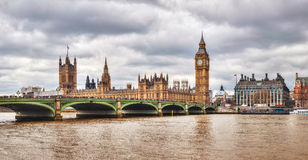 London with the Clock Tower and Houses of Parliament Royalty Free Stock Photos