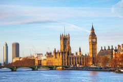 London with the Clock Tower and Houses of Parliament Royalty Free Stock Photography