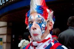 London clown. London's surprised face clown Stock Image